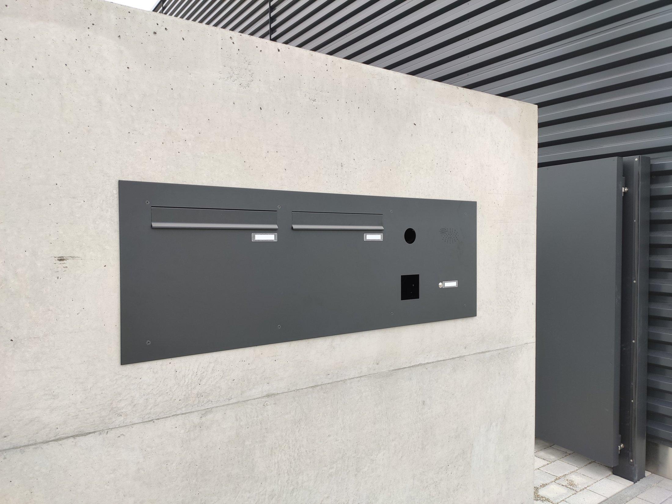 Mauer Briefkastenanlage mit Innenentnahme