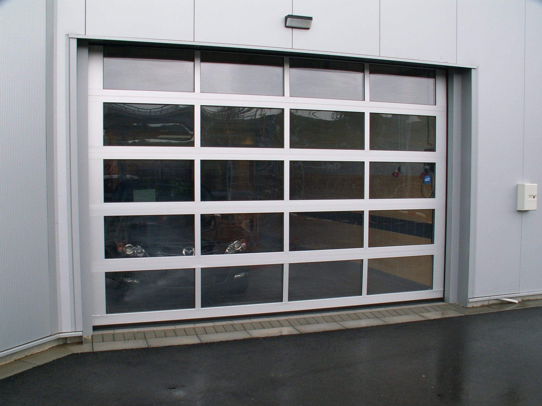 Sektionaltor Aluminium-Rahmen-Sektionen vollverglast