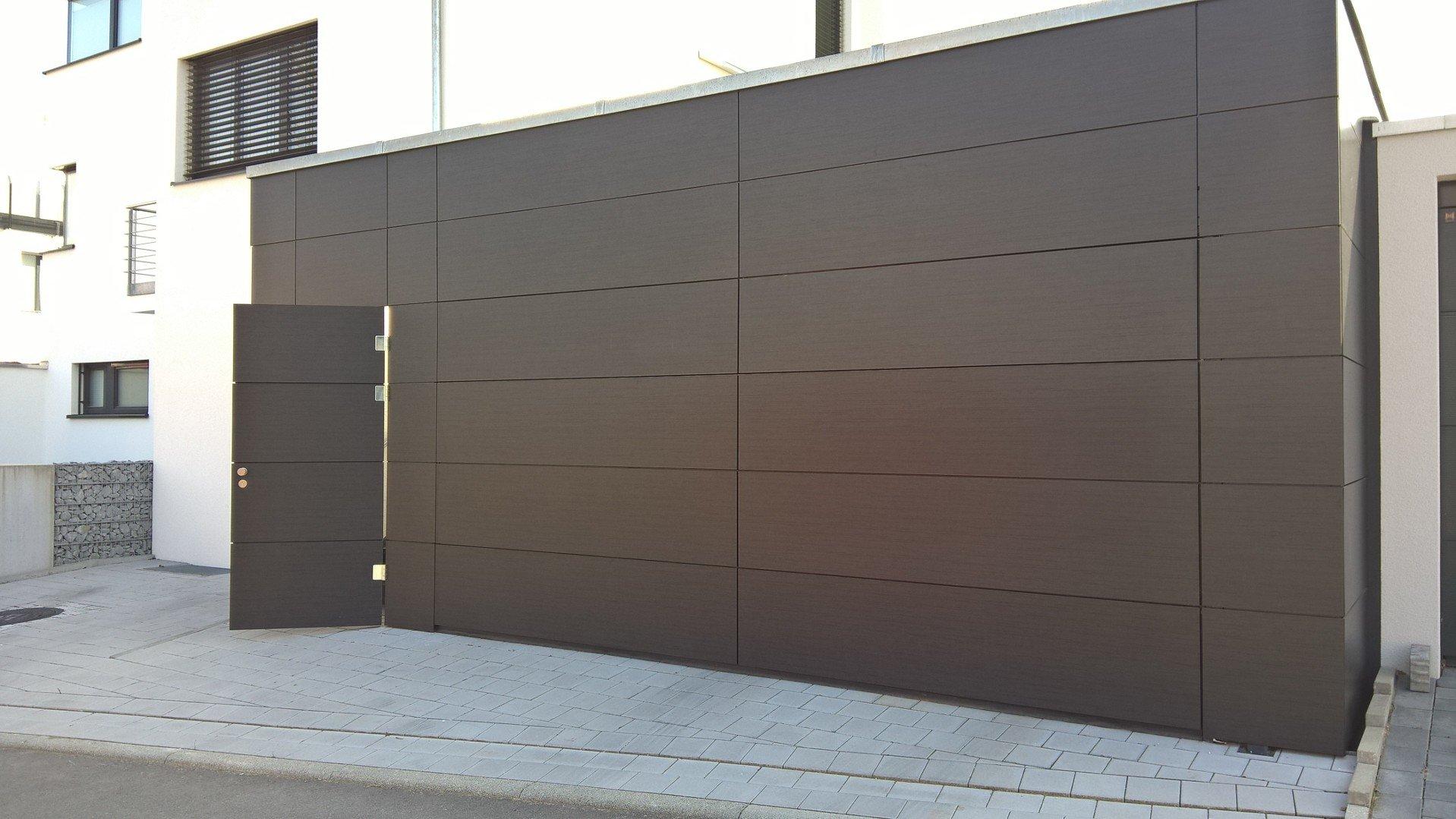 Nebentüre Flächenbündig Auswärts öffnend Mit Trespa-Platten